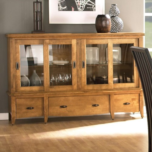 Canadel Custom Dining Customizable Buffet with 4 Glass Doors