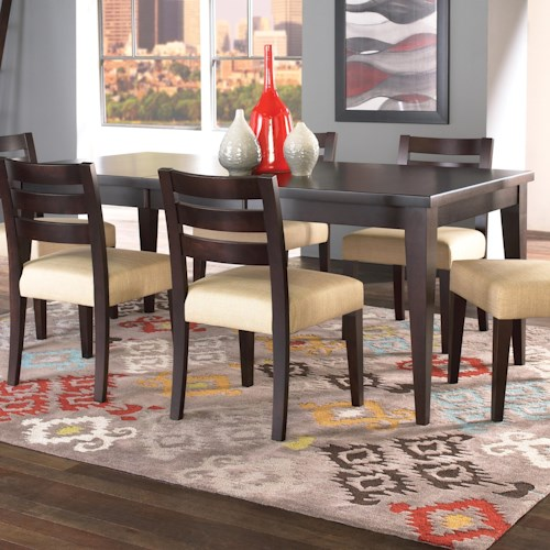 Canadel custom dining customizable rectangular table with for Custom dining room tables