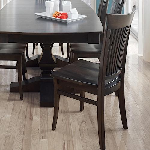 Canadel Custom Dining Customizable Slat Back Side Chair - Wood Seat