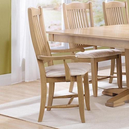 Canadel Custom Dining Customizable Slat Back Upholstered Arm Chair