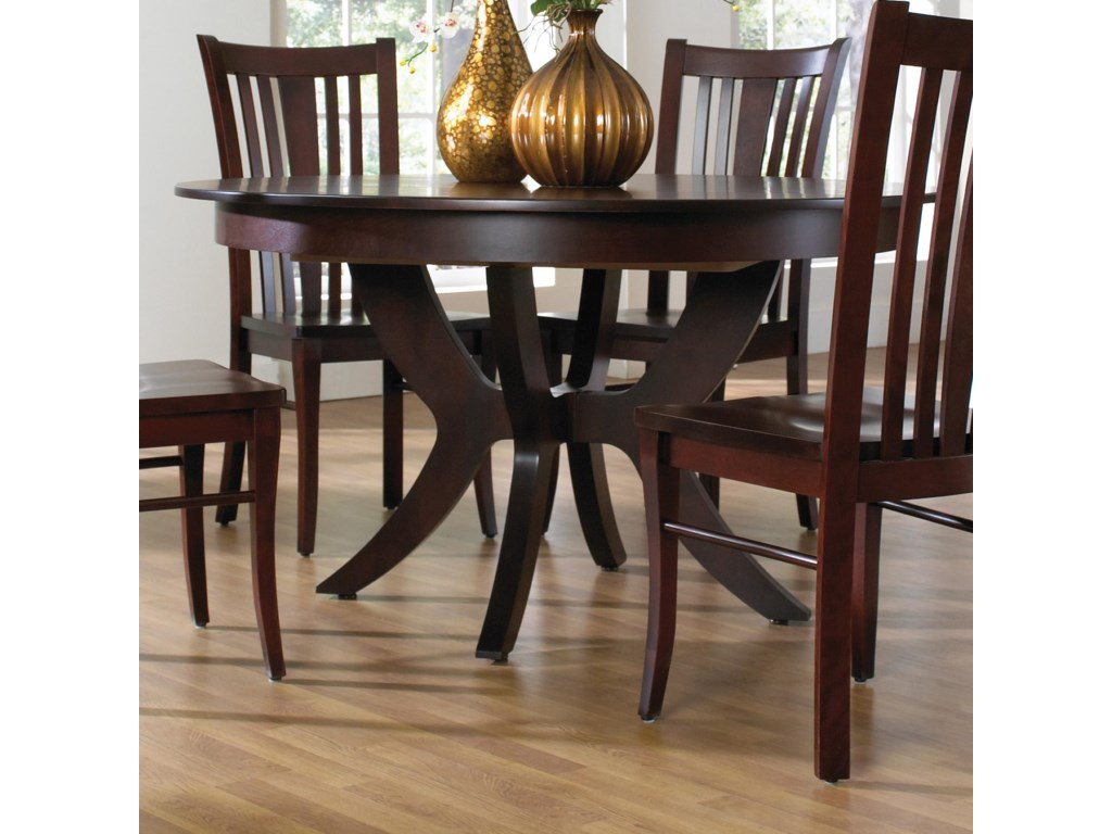 Canadel Custom Dining Customizable Round Table with Pedestal ... on havertys furniture kitchen sets, diamond furniture kitchen sets, value city furniture kitchen sets, macy's kitchen sets, regency furniture kitchen sets,