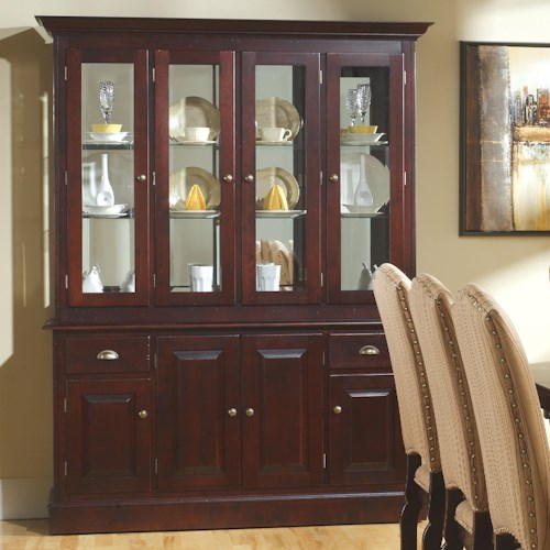 Canadel Custom Dining Customizable 60 Inch Hutch Amp Buffet China Cabinet