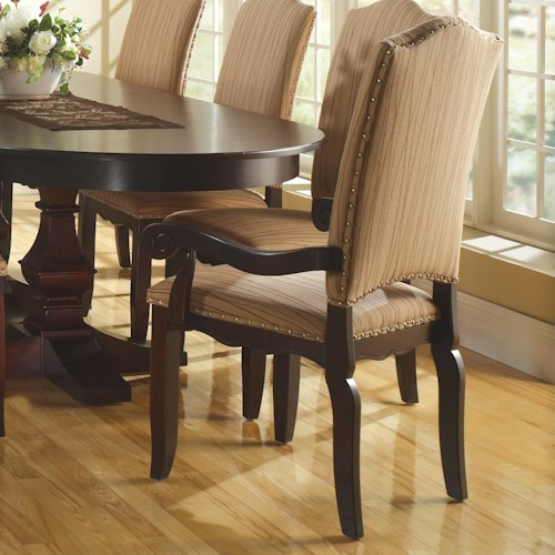 Canadel Custom Dining Transitional Customizable Upholstered Arm Chair