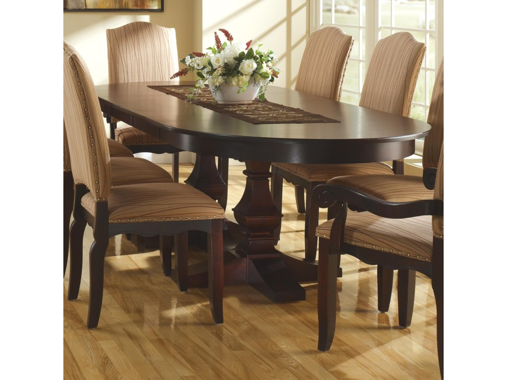 Canadel Custom Dining Customizable Table With Pedestal Base Leaves