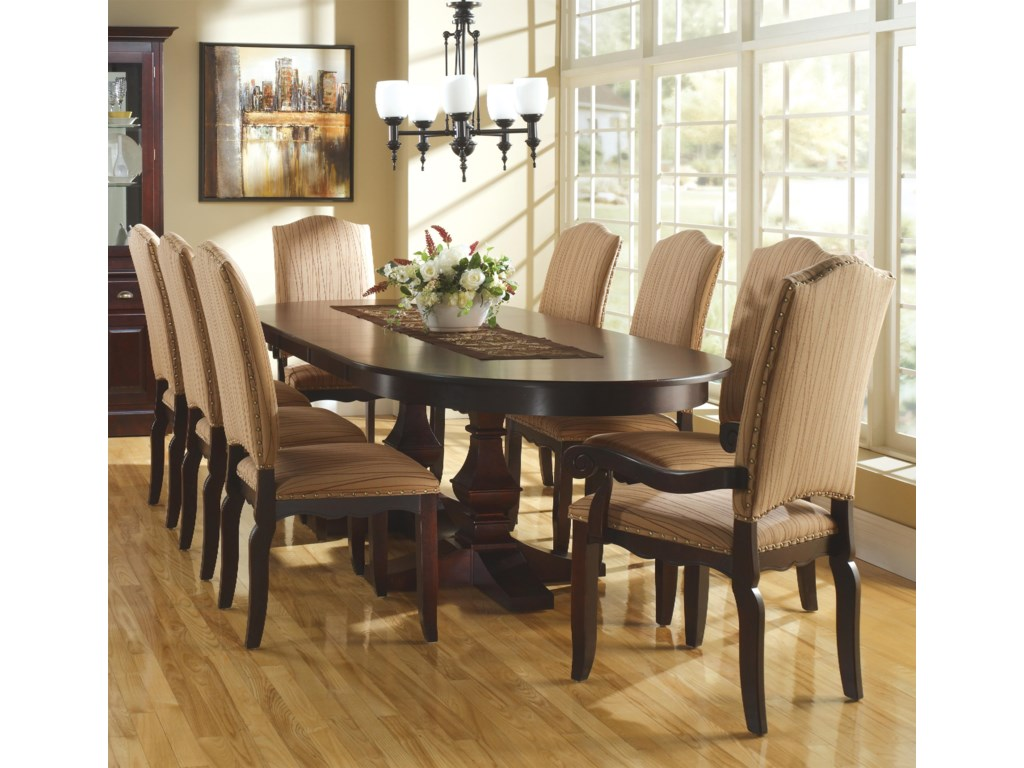 Canadel Custom Dining<b>Customizable</b> Oval Table Set w/ Leaves
