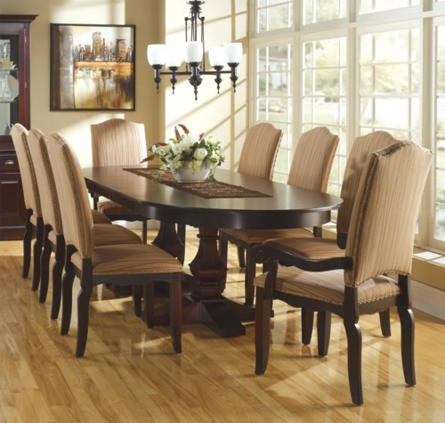 Oval Kitchen Table Chairs Inspiring Collection Including: Canadel Custom Dining Customizable Oval Table With Leaves