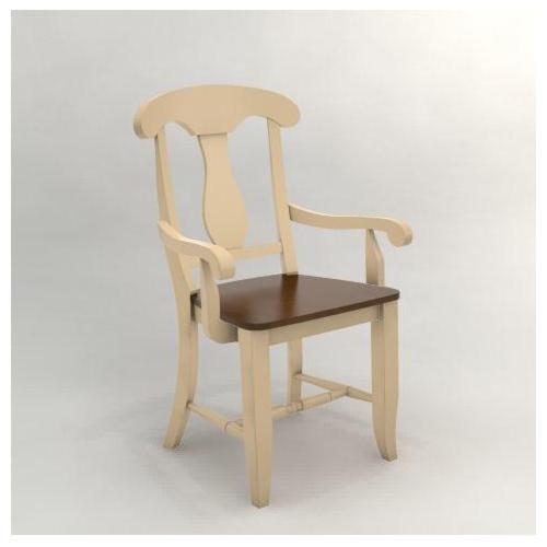 Canadel Custom Dining<b>Customizable</b> Arm Chair - Wood Seat