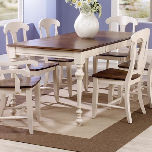 Canadel Custom Dining Customizable Rectangular Table with Legs & Leaf