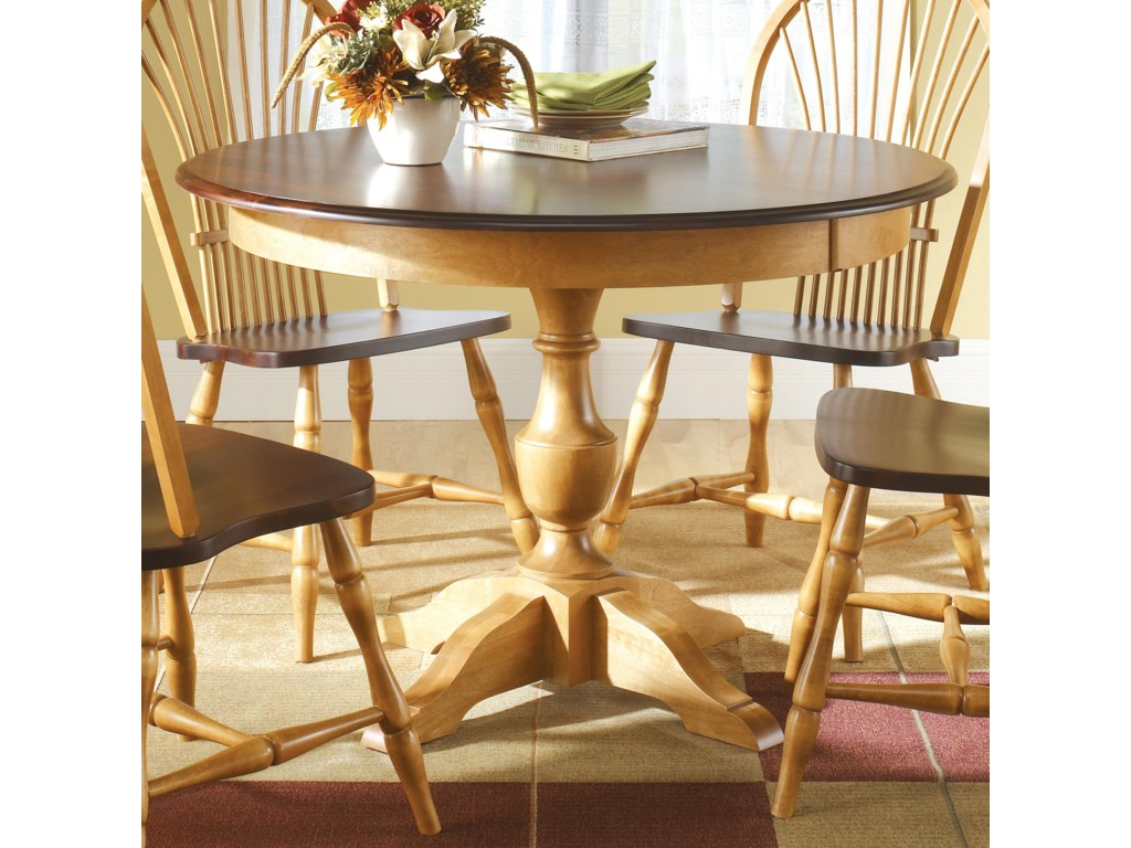 Canadel Custom Dining TRNAXPAF Customizable Round Table - Custom kitchen table and chairs