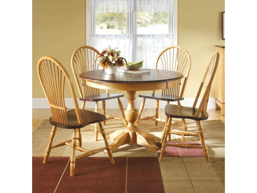 Canadel Custom Dining Customizable Round Table Set With Chairs - Custom kitchen table and chairs