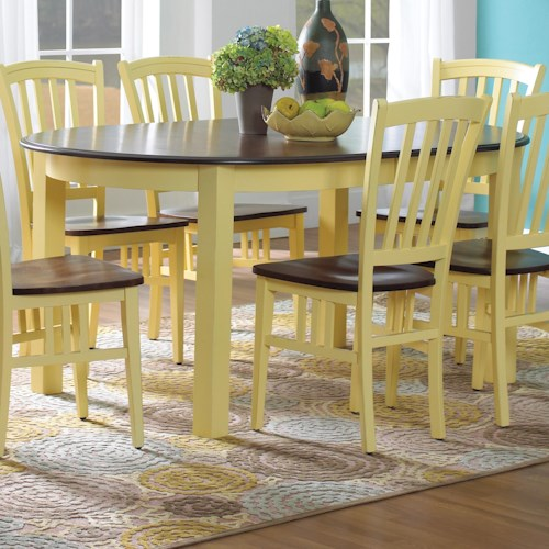 Canadel Custom Dining Customizable Oval Table with Legs