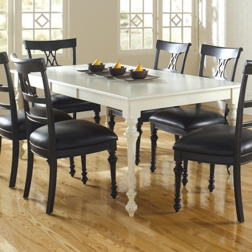 Canadel Custom Dining Customizable Rectangular Table with Legs