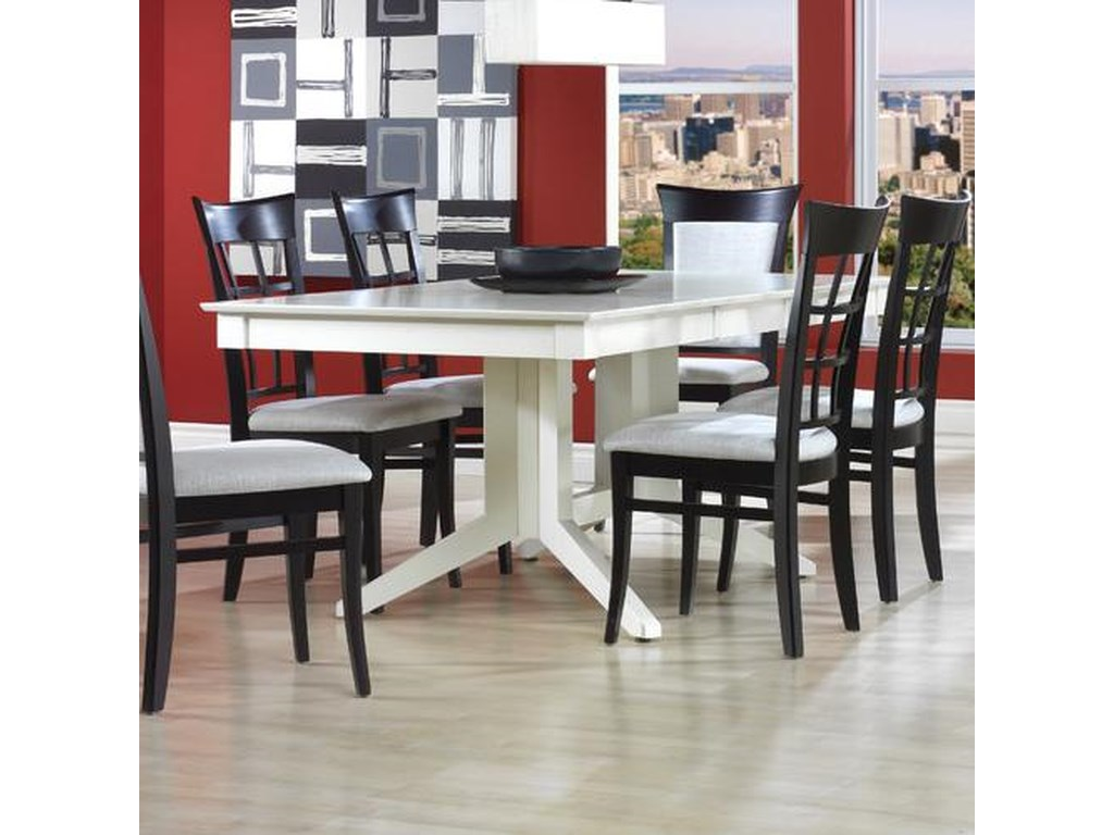 Canadel Custom DiningCustomizable Rectangular Table with Pedestal