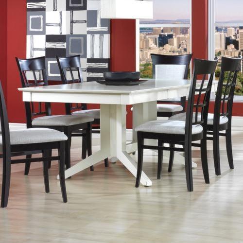 Canadel Custom Dining Customizable Rectangular Table with Pedestal