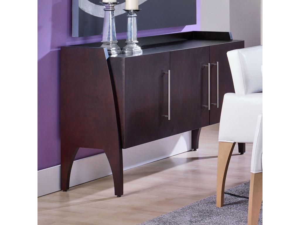 Canadel Custom Dining Contemporary Customizable Buffet with Raised ...