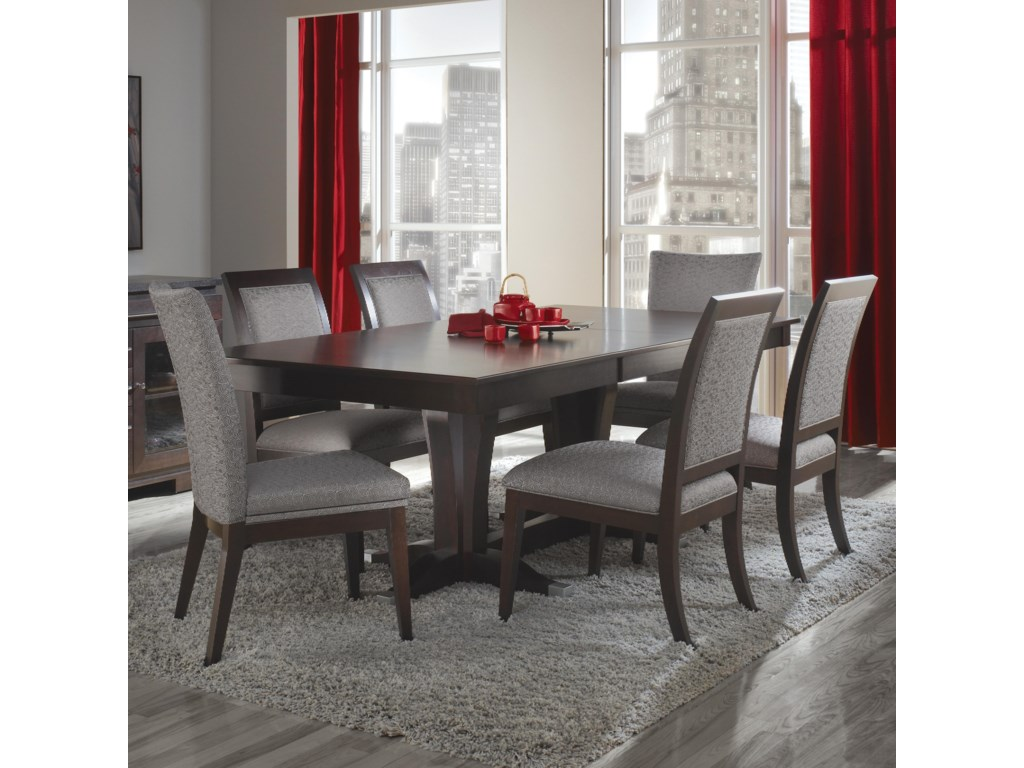 Custom Dining Customizable Rectangular Table With Leaf Set By Canadel