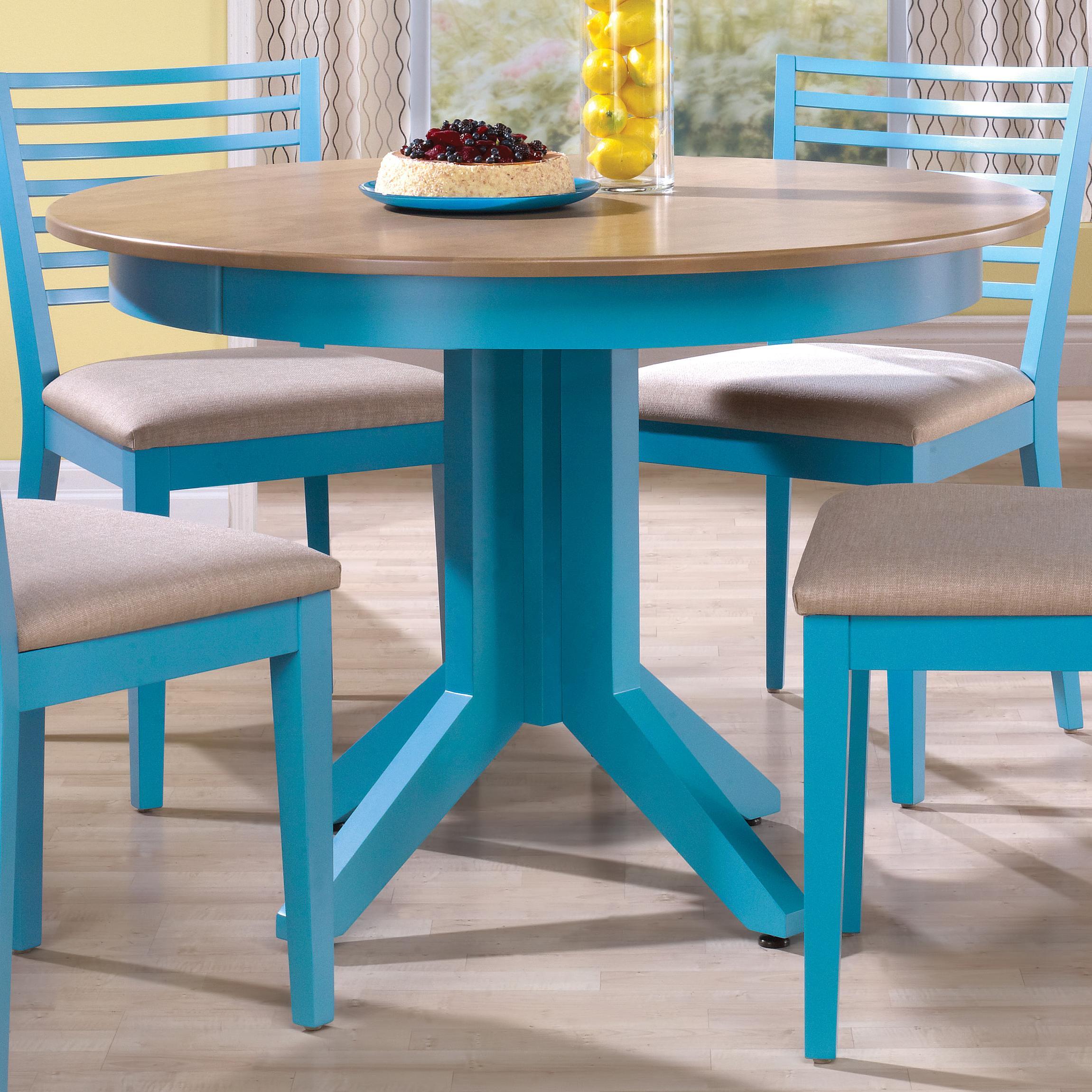 Canadel Custom Diningu003cbu003eCustomizableu003c/bu003e Round Table W/ Pedestal ...