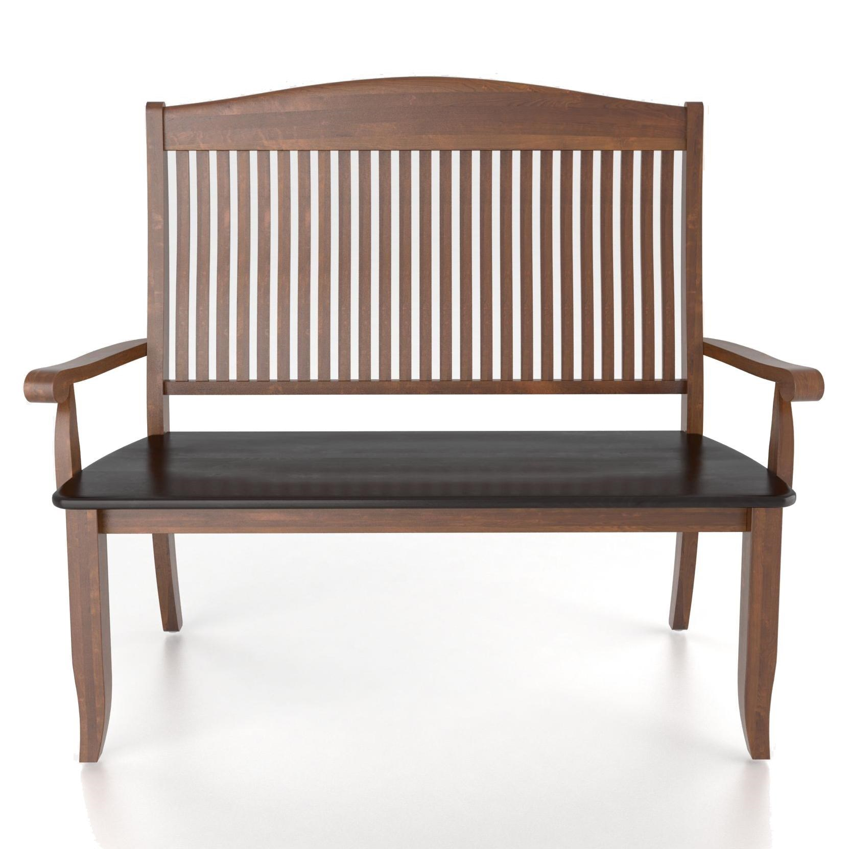 Canadel Custom Dining Customizable Slat Back Bench