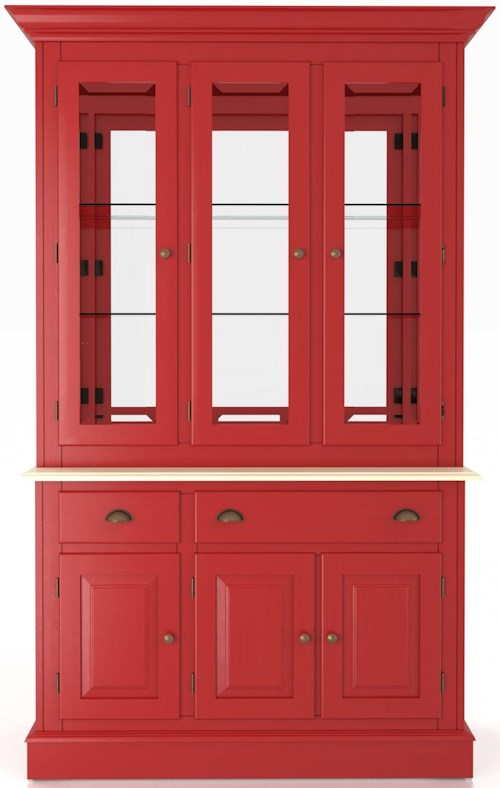 Canadel Custom Dining Customizable 48 Inch Buffet & Hutch China Cabinet