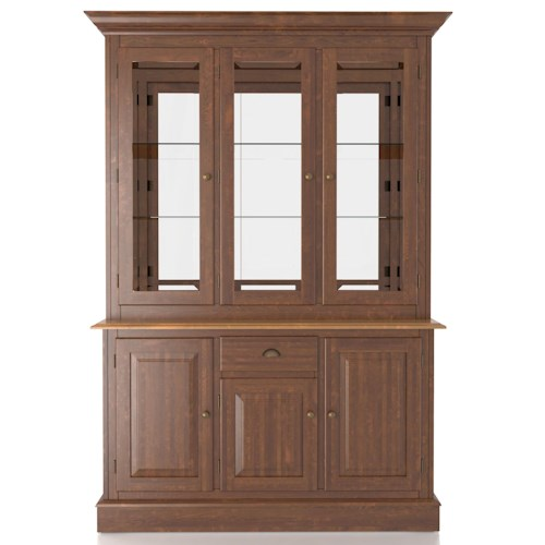 Canadel Custom Dining Customizable 54 Inch Hutch & Buffet China Cabinet