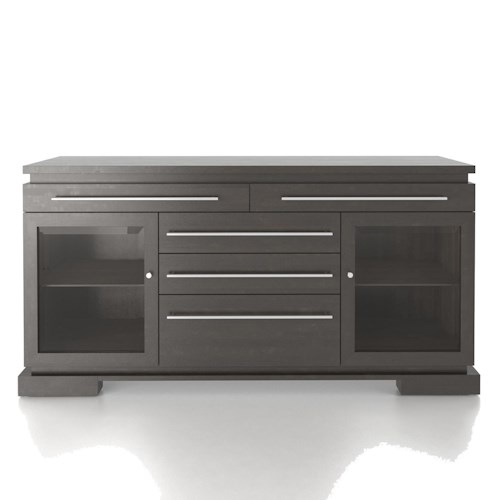 Canadel Custom Dining Modern Customizable Buffet with 2 Glass Doors