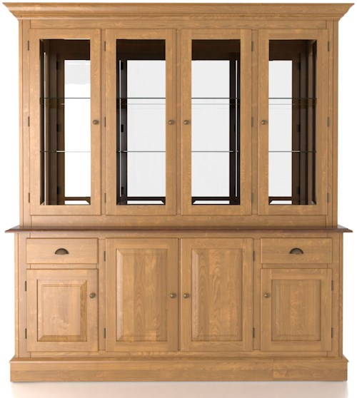 Canadel Custom Dining Customizable 72 Inch Hutch & Buffet China Cabinet