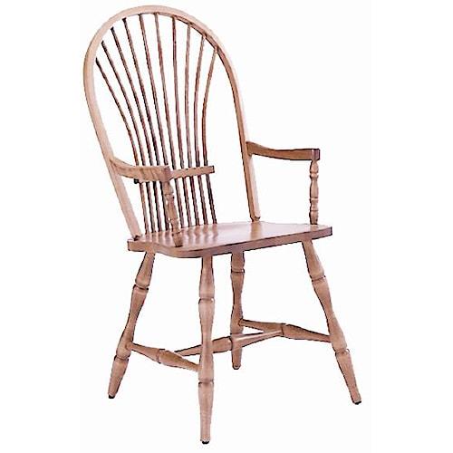 Canadel Custom Dining Customizable Windsor Arm Chair