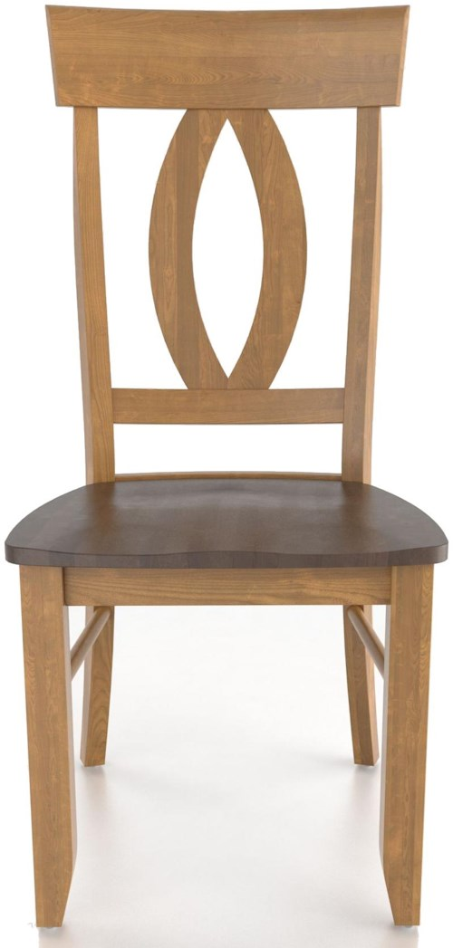 Canadel Custom Dining Customizable Side Chair - Wood Seat