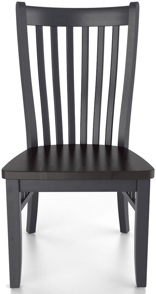 Canadel Custom Dining Customizable Mission Side Chair - Wood Seat