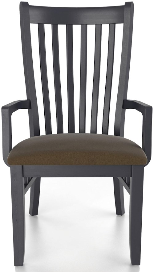 Canadel Custom Dining Customizable Upholstered Mission Arm Chair