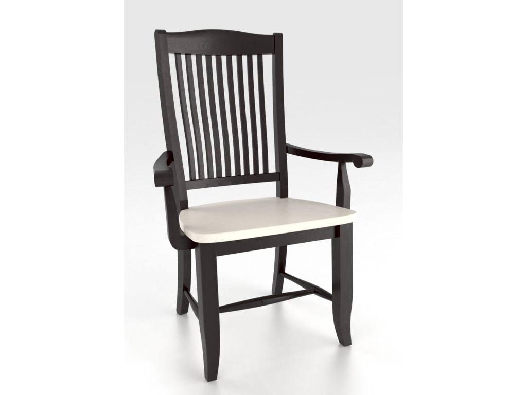 Canadel Custom Dining<b>Customizable</b> Armchair - Wood Seat