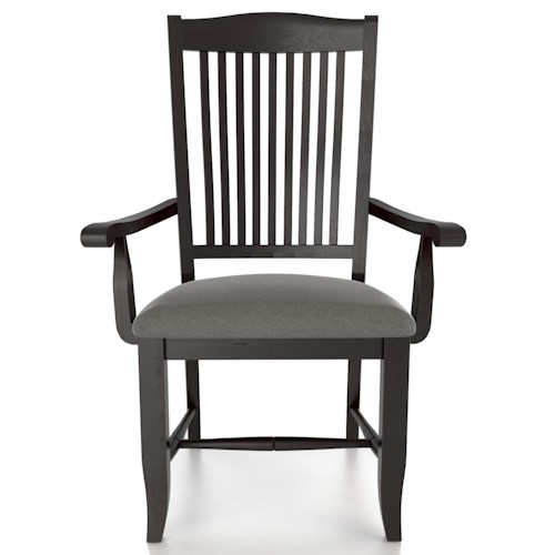 Canadel Custom Dining Customizable Slat Back Upholstered Armchair