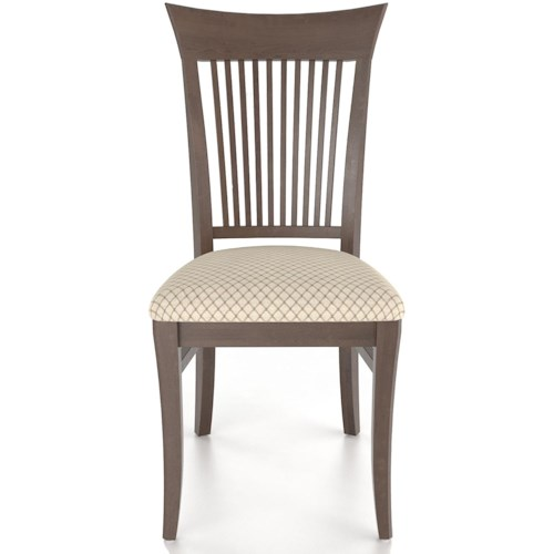 Canadel Custom Dining Customizable Slat Back Upholstered Side Chair