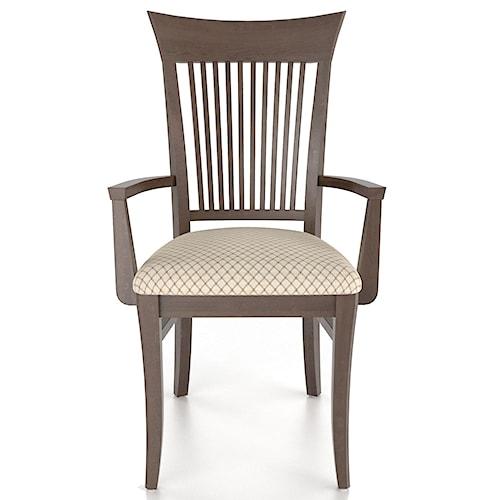 Canadel Custom Dining Customizable Slat Back Upholstered Armchair