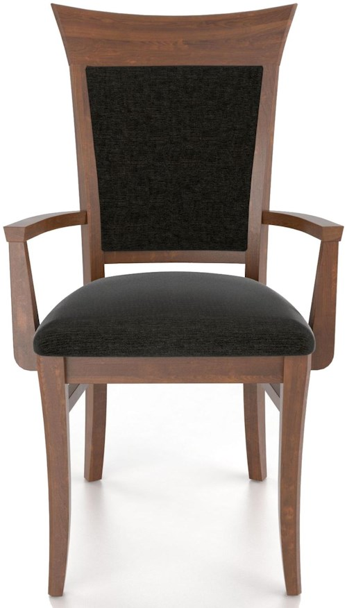 Canadel custom dining customizable upholstered armchair for Furniture 0 percent financing