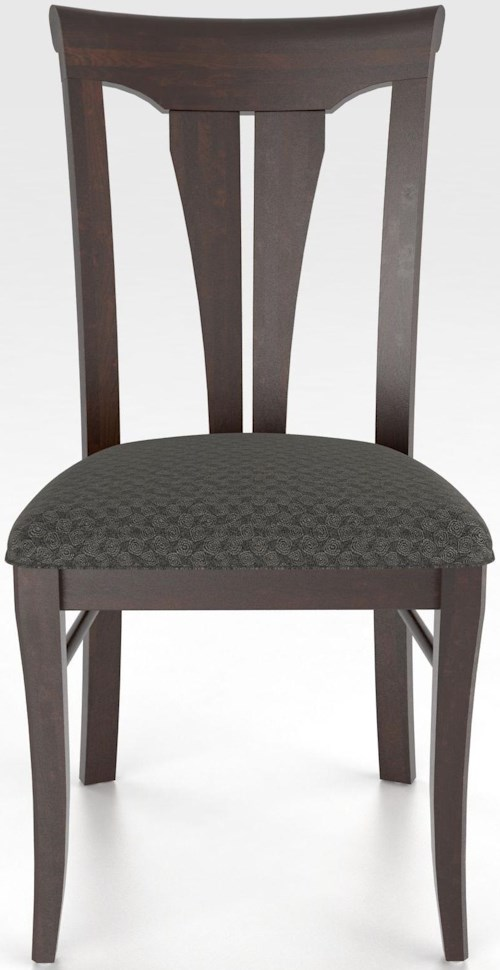 Canadel Custom Dining Customizable Sheaf Back Upholstered Side Chair
