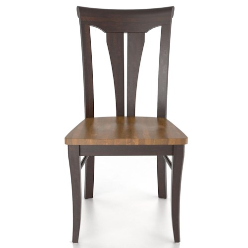 Canadel Custom Dining Customizable Sheaf Back Side Chair - Wood Seat