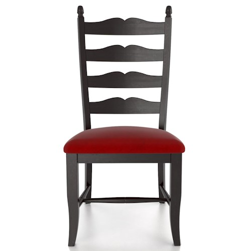 Canadel Custom Dining Customizable Ladder Back Upholstered Side Chair
