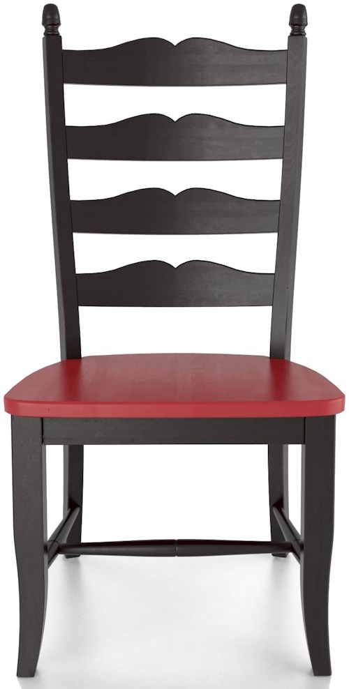 Canadel Custom Dining Customizable Ladder Back Side Chair - Wood Seat