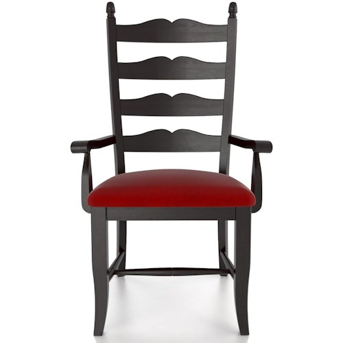 Canadel Custom Dining Customizable Ladder Back Upholstered Arm Chair