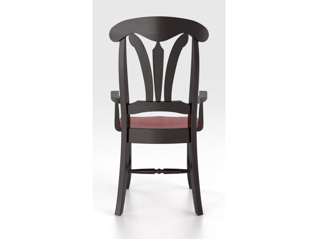 Canadel Custom Dining<b>Customizable</b> Arm Chair - Wood Seat