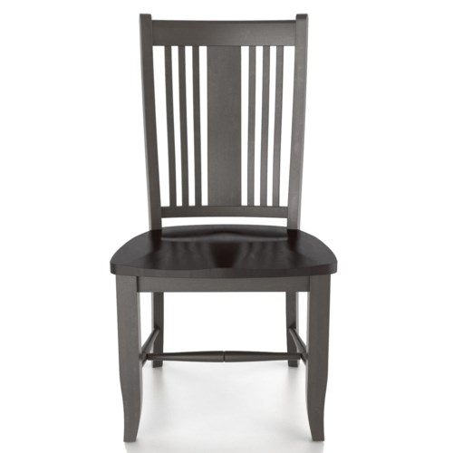 Unique Canadel Custom Dining Customizable Side Chair Wood Seat HD - Minimalist wooden chair seats For Your Plan