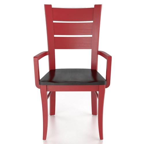 Canadel Custom Dining Customizable Arm Chair - Wood Seat