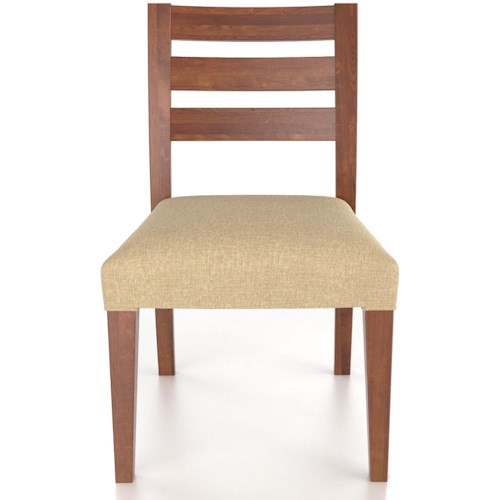 Canadel Custom Dining Customizable Upholstered Side Chair with Ladder Back