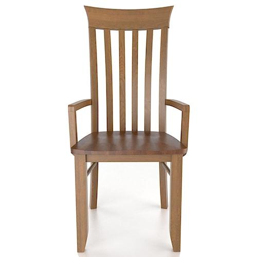 Canadel Custom Dining Customizable Arm Chair - Wood Seat