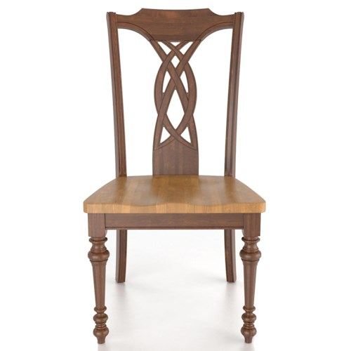 Canadel Custom Dining Traditional Customizable Side Chair - Wood Seat