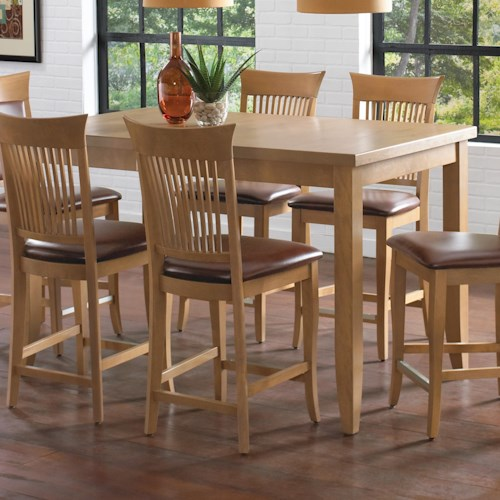 Canadel Custom Dining - High Dining Customizable Rectangular Counter Height Table with Leaf
