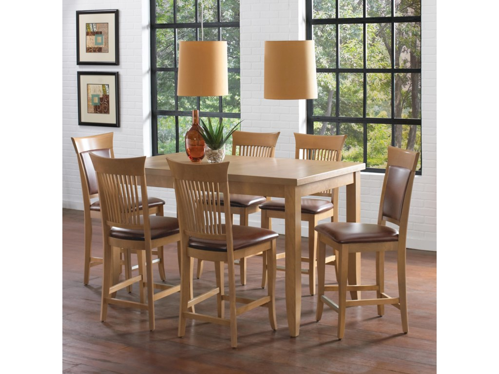 Canadel Custom Dining - High Dining<b>Customizable</b> Counter Height Table Set
