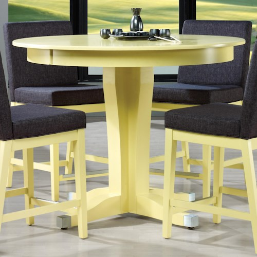 Canadel Custom Dining - High Dining Customizable Round Counter Height Table with Pedestal