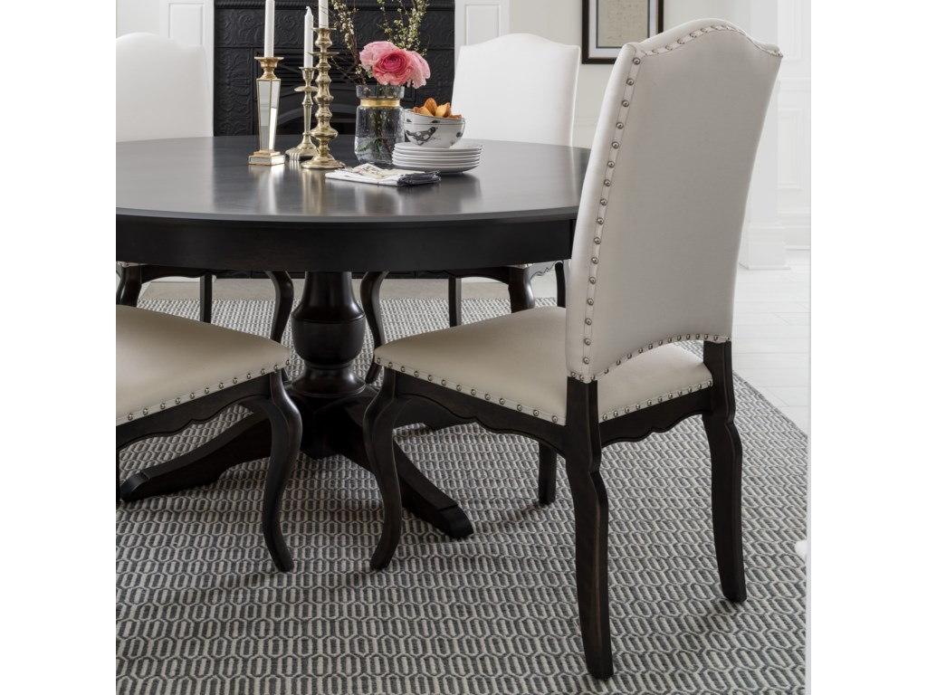 Canadel Custom Dining Customizable Side Chair with Upholstered Seat ...